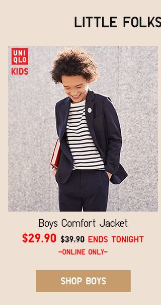 BOYS COMFORT JACKET $29.90 - SHOP BOYS
