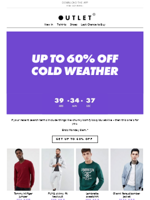 Up to 60% off the snug and cosy