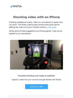 Shooting video with an iPhone