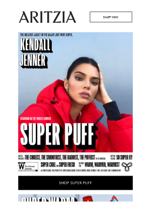 Kendall Jenner in The Super Puff 🍒