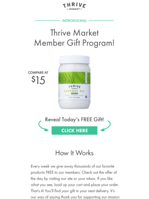 Love FREE gifts? They're a perk of joining Thrive Market