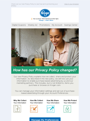 Updates to Our Privacy Policy