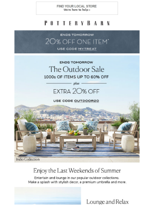 Outdoor Savings That Are Truly EXTRA! Plus, Take 20% Off Any Regular-Priced Item!