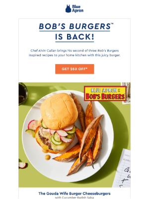Bob's Burgers Strikes Again with $50 off!