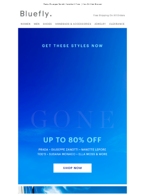 Up To 80% Off Is Going, Going...Almost Gone!