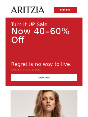 Turn It UP Sale: Now 40–60% off