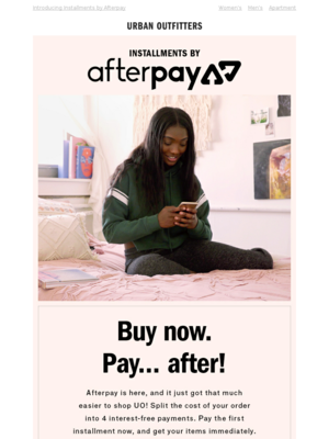 Buy now. Pay... AFTER!?!