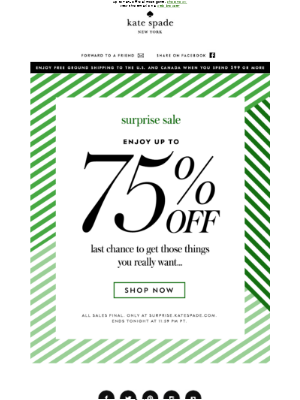 final hours to enjoy up to 75% off...