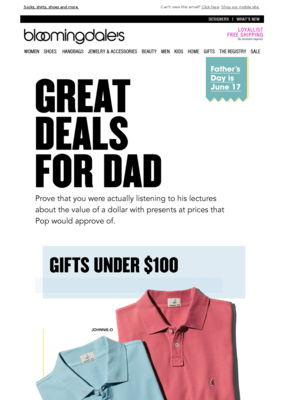 Great gifts for Dad at great prices