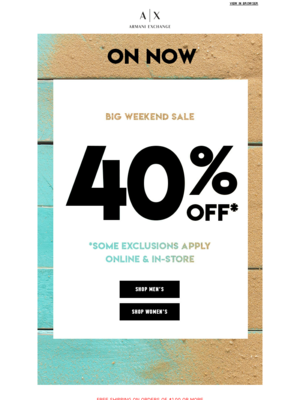 Weekend Sale On Now: 40% OFF