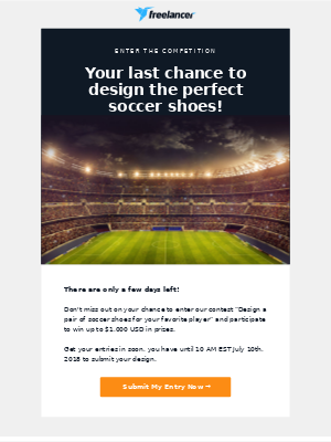 Only a few days left to design the perfect soccer shoes!