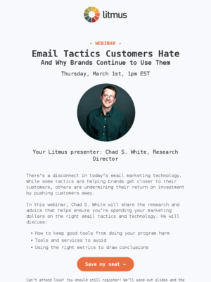 [Webinar] How to avoid email tactics that customers hate