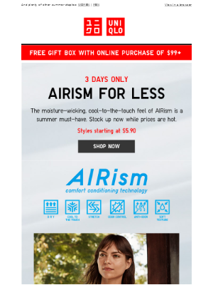 3 DAYS ONLY! HUGE deals on AIRism