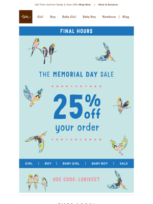 The Memorial Day Sale Ends in a Few Hours