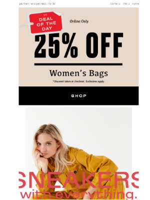 🔥 Deal of the Day: 25% OFF BAGS + WALLETS