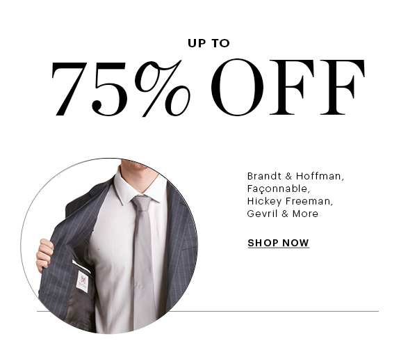 UP TO 75% OFF, SHOP NOW