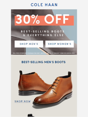 30% Off Best of Boots & Outerwear