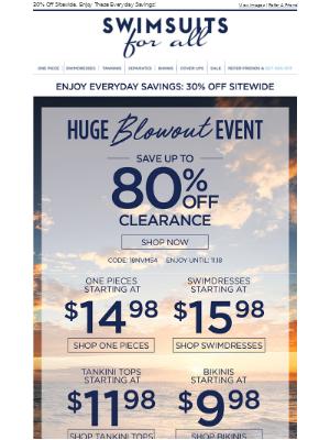 🚨 HUGE BLOWOUT EVENT! SAVE UP TO 80% OFF CLEARANCE! 🚨