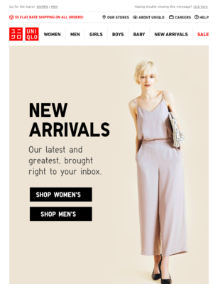 Uniqlo USA - mail@enews.uniqlo-usa.com