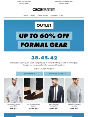 ASOS Outlet Flash Sale - asos@fashion.asos.com