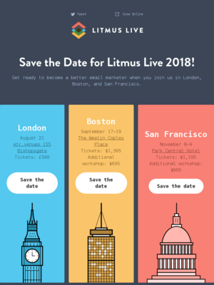 2018 conference dates + call for speakers
