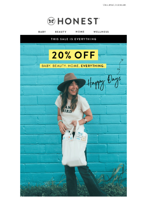 Happy days are here   20% off everything