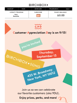 You're Invited: Giveaways, Prizes, and Candy at Birchbox SoHo 🍬