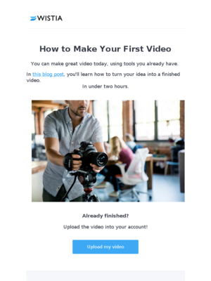 Need help making your first video?