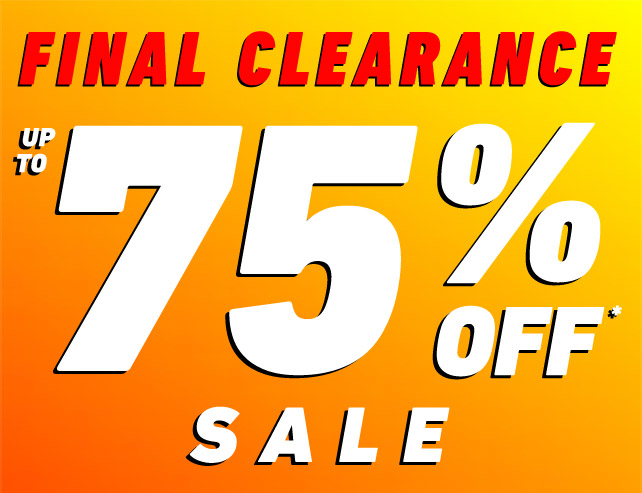 up to 75% off Clearance!