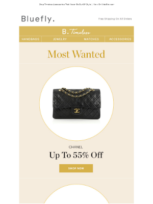 Chanel, Gucci, and Hermès - At Up To 65% Off!