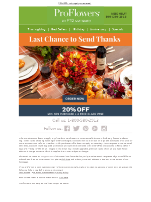 Last chance to save BIG this Thanksgiving