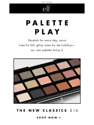 New. Eyeshadow. Palettes (plus, free shipping!)