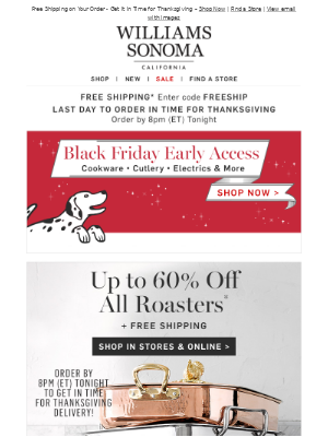Up to 60% Off Thanksgiving Essentials – Get It in Time for Thanksgiving