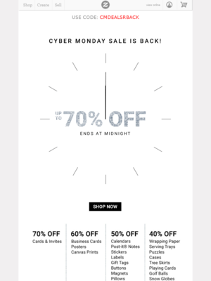 Here today. Gone tomorrow. Our Cyber Monday sale ends at midnight! Save 70% ...