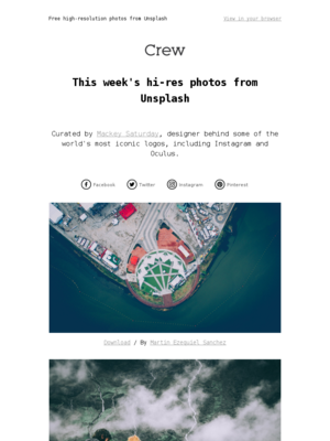 Beautiful, hi-res photos from Unsplash