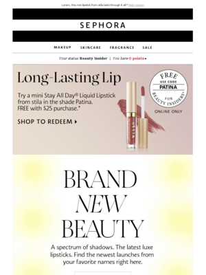 Sephora Beauty Insider - shop@beauty.sephora.com