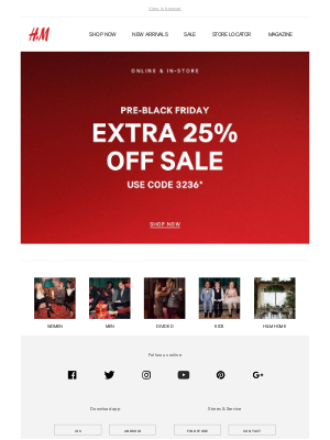 Sale's on sale! Extra 25% off all sale today only