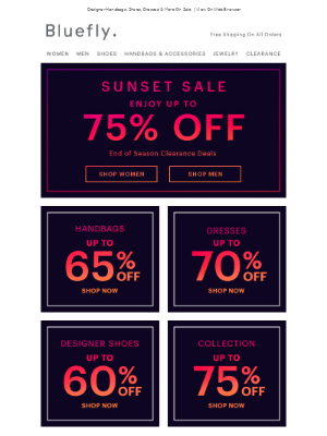 Clearance Deals Up To 75% Off - Don't Miss Out!
