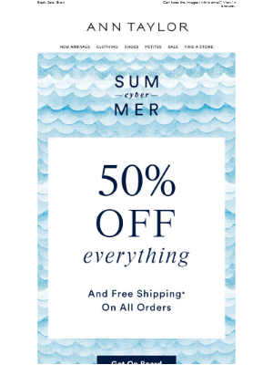 50% OFF! (And FREE Shipping On All Orders)
