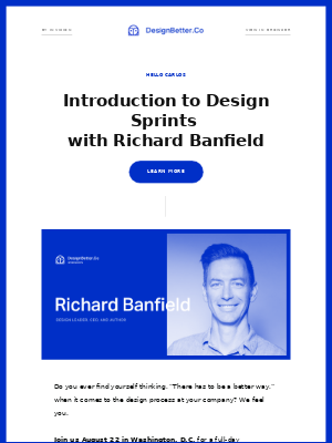 Your personal invite to Introduction to Design Sprints with Richard Banfield