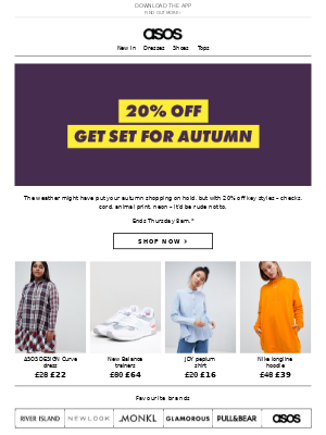 20% off autumn picks