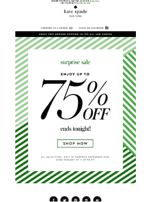 last day to enjoy up to 75% off