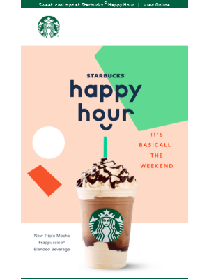 Frappuccino® Blended Beverages are on the menu