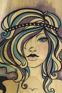 Saltwater vixen illus purp blue detail