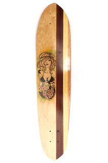 Art by Cocoramb of Rainy Sun Design - Longboard Skateboard - Original Design