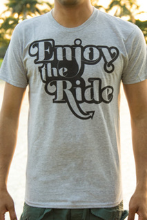 Makai project enjoy the ride shirt gray front