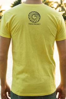 Makai project enjoy the ride shirt yellow back