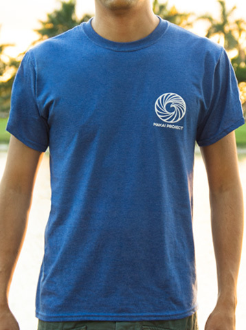 Makai Project cotton t-shirt in heather blue