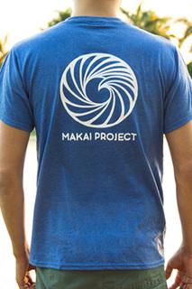 Makai project t shirt blue back