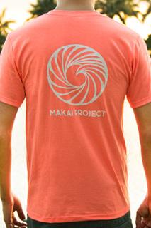 Makai project t short salmon back